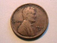 1915-D Lincoln Very Fine VF Original Brown Toned 1 Wheat Cent One Penny US Coin