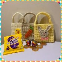 KNITTING PATTERN -Easter Gift Bags Baby Chick, Rabbit and Carrot