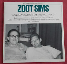 ZOOT SIMS LP ORIG FR BLUE NOTE REISSUE SERIES  JAZZ ALIVE! A NIGHT AT THE HALF