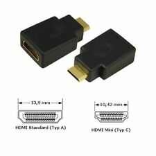 !!BLITZVERSAND!! MINI HDMI AUF STANDARD HDMI ADAPTER FÜR DIGITALKAMERA, PC, TV