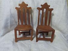 mobilier poupée paire de chaise de poupée ancienne en bois