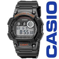 NEW Casio W735H-8AVCF Mens Super Illuminator Digital Red Acnt Black Resin Watch