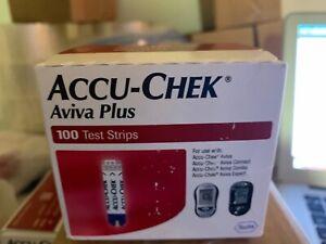 Accu-Chek Aviva Plus Test Strips 100 CT FREE SHIP EXP 03/2021 SUPER SAVER $$