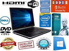 DELL Latitude Laptop Windows 10 Core I5 DVDRW 500GB WiFi OFFICE Notebook Webcam