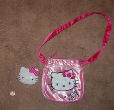 Hello Kitty SPARKLES  Girl's messinger Bag Cross body PURSE, MIRROR, & NECKLACE