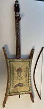 Handmade Middle Eastern string instrument REBAB rababa & Bow Woodstock Wall Art!