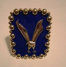 ELVIS PRESLEY CONCERT STYLE GOLD AND ROYAL BLUE EAGLE CUFF