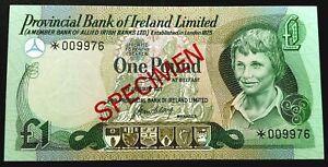 IRELAND (£1) ONE POUNDS BANKNOTES 1st JAN'1977-SPECIMEN- NOTES X1 UNC