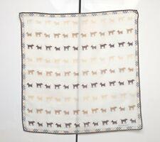 Burberry Bandana Pocket Square Handkerchief Neckerchief Nova Check Dogs Beige