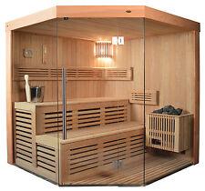 Sauna, Sauna komplett, Massivholz TS 4013 180/180 der Klassiker !
