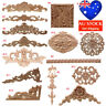 Various Wood Carved Corner Frame Onlay Applique Furniture Home Door Decal Decor