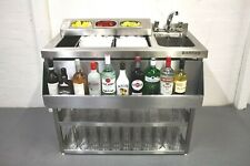 More details for 1 metre stainless steel cocktail bar unit with insulated ice well and bar sink