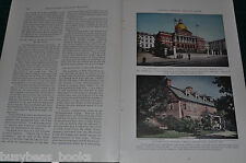 1931 magazine article, NEW HAMPSHIRE, people, history, geology etc color photos