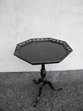 Painted Black Mahogany Octagonal Shape Side End Center Table 6043