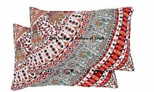 2 PC Cotton Throw Pillow Case Rectangle Cushion Cover Indian Bohemian Home Decor