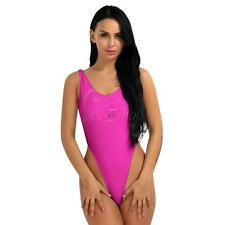 Women's Lingerie High Cut Mesh See-through Monokini Bodysuit Swimsuit Beach Wear
