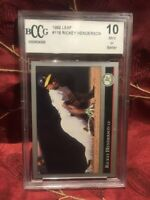 Rickey Henderson - 1992 Leaf -#116  BCCG 10 Mint possible PSA 10 ?