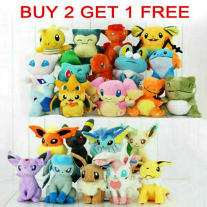 Rare Pokemon Collectible Plush Doll Character Soft Toy Stuffed Teddy Best Gifts