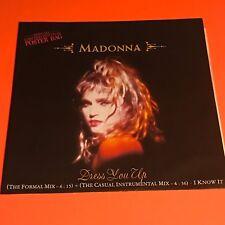 MADONNA DRESS YOU UP UK 12 POSTER SLEEVE 1985 RARE
