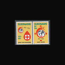 SURINAM, Sc #B366-67, MNH, 1988, Red Cross, Red Crescent, Cpl set, 1SID