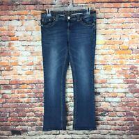 Rue 21 Womens Size 11/12 Short Slim Boot Dark Wash Denim Jeans