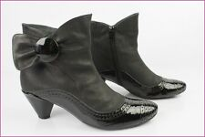 Bottines Boots DORALATINA Cuir Noir T 38 TBE