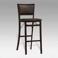 Linon Keira Pad Back 30 in. Folding Bar Stool, 17W x 20D x 43H inches