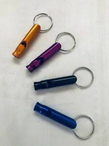 Metal Dog Whistle - Puppy - Training - High Pitched - Walking - Safety - Keyring