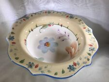"Taylor Mae by Noble Excellence 10 3/4"" Round Vegetable Bowl Flowers Scalloped"