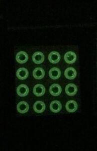 16ct - 8mm glow in the dark Fish Eyes fly tying baitfish pattern