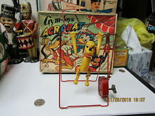 PLUTO THE ACROBAT IN BOX WIND UP LINEMAR GYM TOYS WORKS 1950's