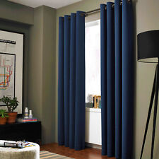 1 SET 2PC LINED HEAVY THICK  BLACKOUT GROMMET WINDOW CURTAIN PANEL TREATMENT K86