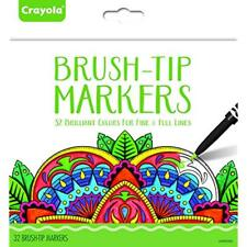 Crayola Brush Coloring Pens & Markers Tip Makers, Adult Coloring, 32 Count