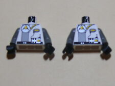 Lego 2 torses blancs / 2 white torsos from minifig set 1737 6938 6899 6958