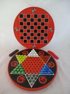 Vintage Ohio Art Round Tin Litho Chinese Checkers Game 537C177 (2)