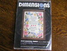 "1989 Dimensions Crewel Embroidery Kit #6159 MOST BEAUTIFUL THINGS 5x7"" Frame~NIP"