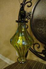 Blown Glass iridescent Lime Christmas Ornament