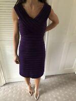 Phase Eight Purple Bandage Bodycon Wiggle Dress Size 12