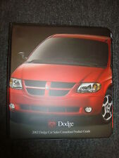 **SELTEN** 2002 DODGE CAR SALES CONSULTANT PRODUCT GUIDE *NUR FUR VERKAUFER USA*