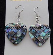25mm New Zealand Abalone Shell Heart Beads Earrings