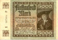 ALLEMAGNE GERMANY 5000 M 1922 état voir scan 994