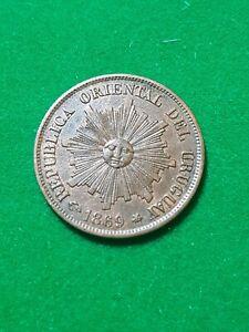 URUGUAY  1 Centesimo  1869  Bronze