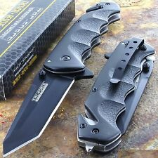 TAC FORCE Black TANTO BLADE Spring Assisted Tactical Folding Pocket Knife New!!!
