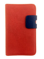 red WALLET SKIN Case with Card Slots for Samsung Galaxy Ace GT-S5830/GT-S5830i