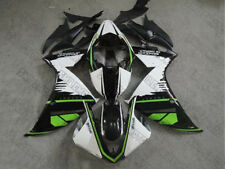 Fairing Injection White Black Green Plastic Fit for 2012-2014 Yamaha YZF R1 o015