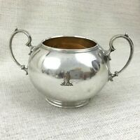 Antique Silver Plated Bowl Urn Pot Victorian Family Crest Coat of Arms Armorial