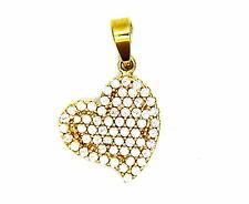 Yellow Gold Pendant 18KT Heart