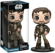 FUNKO WOBBLERS STAR WARS ROGUE ONE CASSIAN ANDOR VINYL BOBBLE HEAD WOBBLER