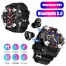 2 in 1 Smart Watch w/ Bluetooth 5.0 Earbuds Wristband Tracker Heart Rate Monitor