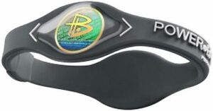 Authentic Power Balance Silicone Wristband - Grey/White -X-Small